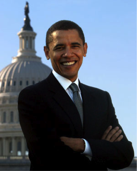 Picture of President Barrack Obama with the Capital building in the background. Flickr