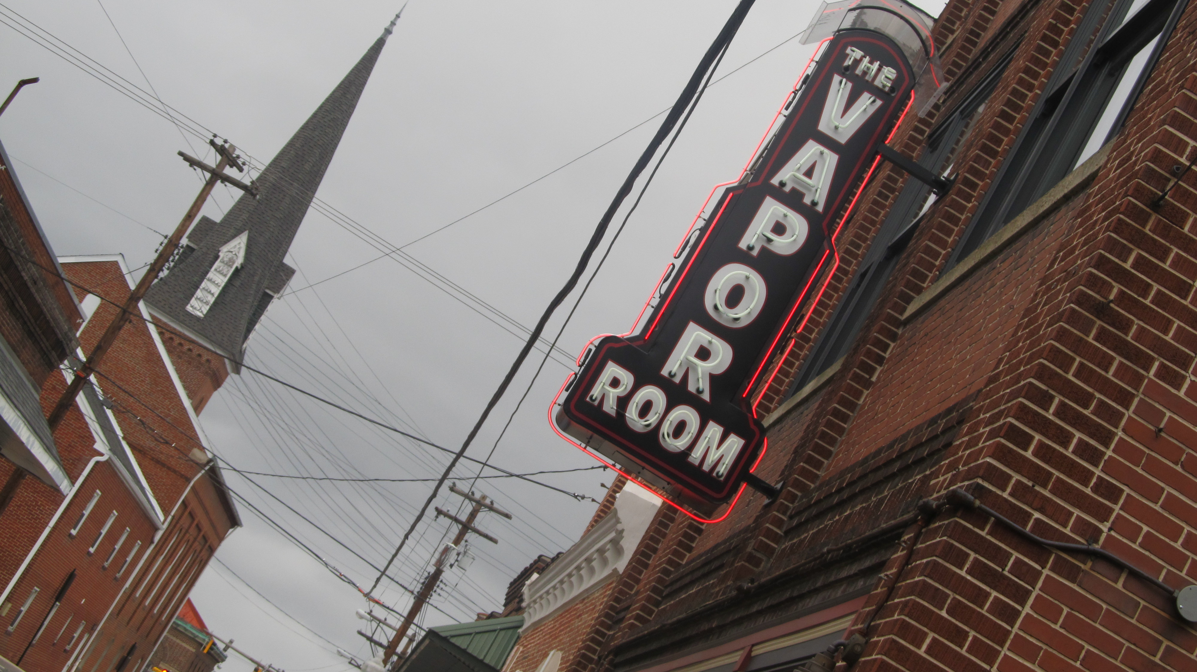 The Vapor Room is located on Water Street in Frostburg.