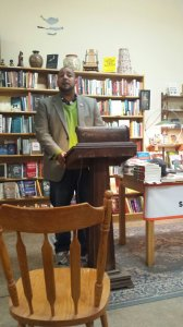 Steven Leyva reading from the Little Patuxent Review