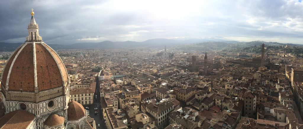 Panorama from the top of Castel Sant'Angelo (Nick DeMichele)