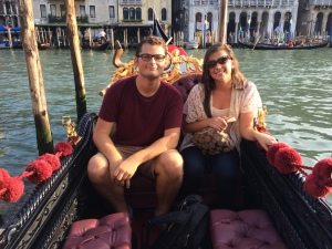 Haylee Wison and I on a gondola tour in Venice. (Nick DeMichele)