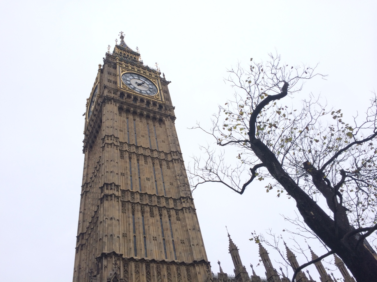 The Elizabeth Tower with Big Ben in London. (Nick DeMichele)