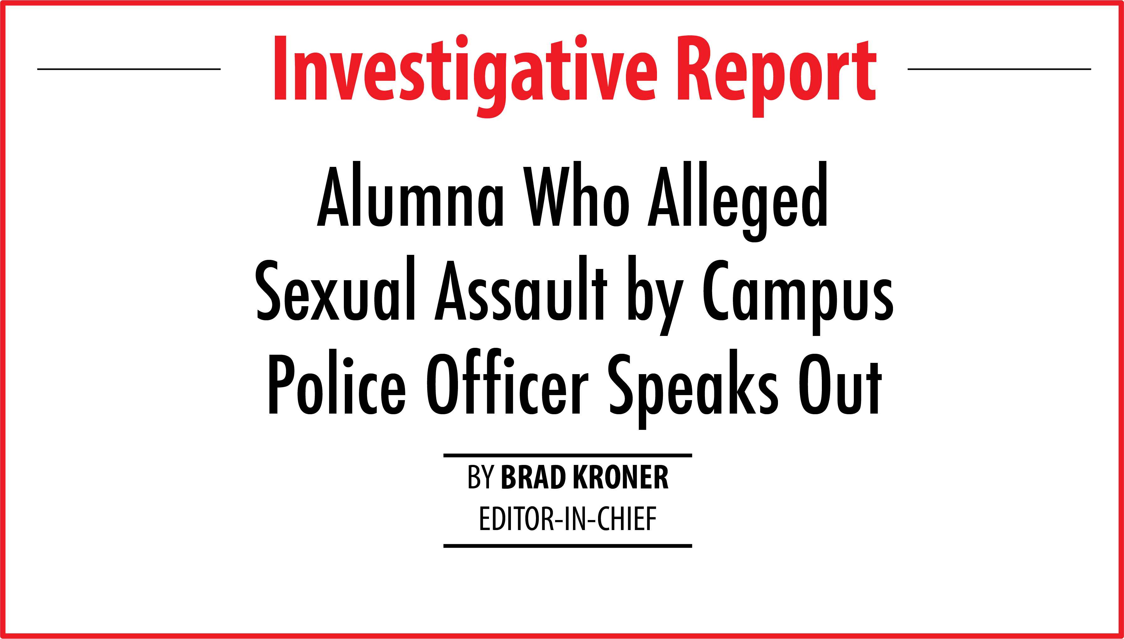 alumna who alleged assault