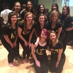 The AΣT sisters after the show.