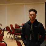 FSU sophomore and Baltimore native Chris Griffith detailed his personal account with Baltimore police and encouraged students to visit the city to participate in peaceful protests. (TBL/Nick DeMichele)
