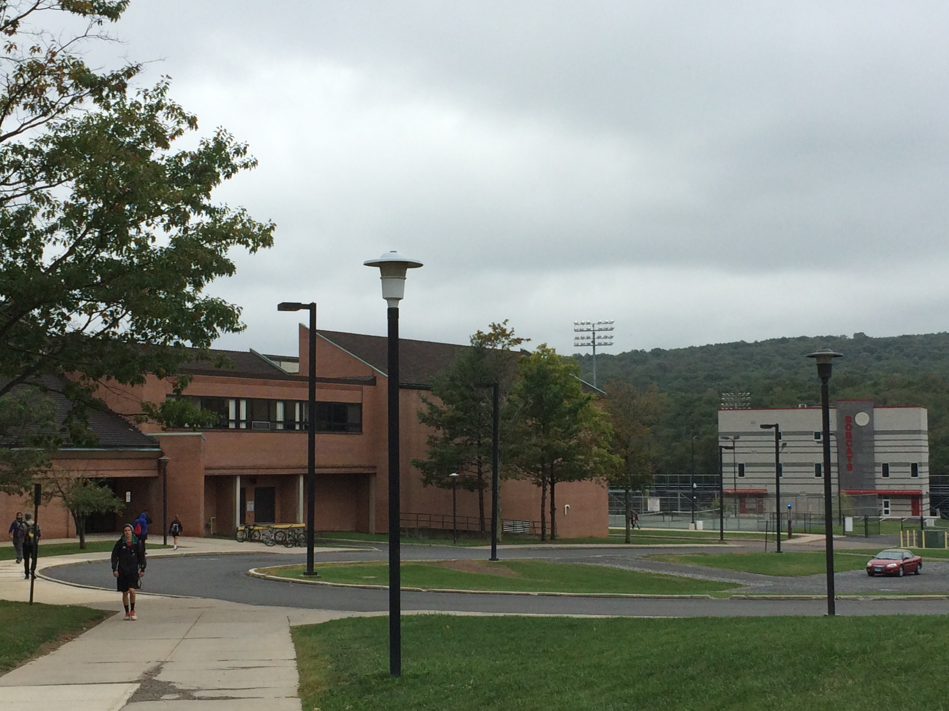 The Cordts P.E. Center's fire alarm is not working at present time. (Brad Kroner/TBL)
