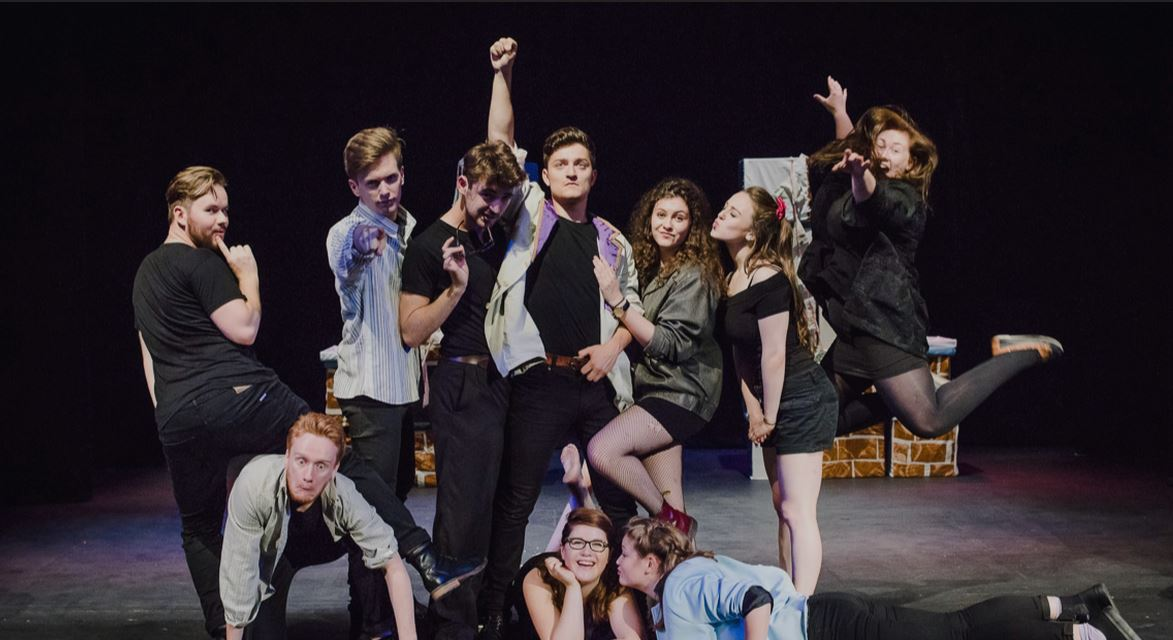 The actors from the Cambridge American Stage Tour pose during their dress rehearsal. (CAST)