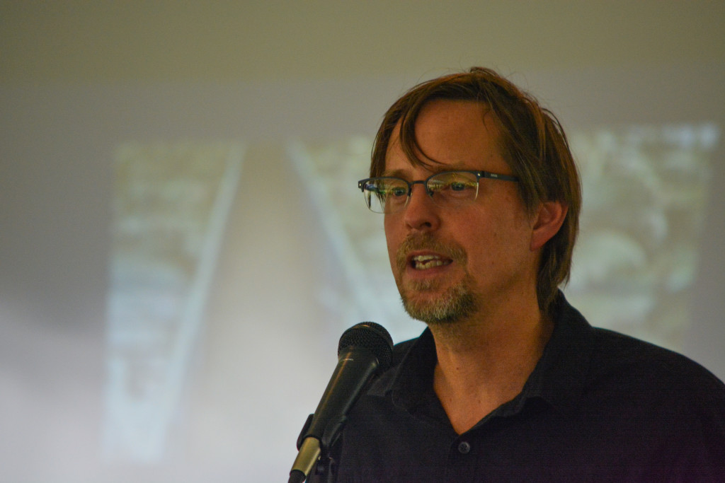 FSU Professor Skott Brill presents at the Appalachian Festival Symposium. (Nick DeMichele/TBL)
