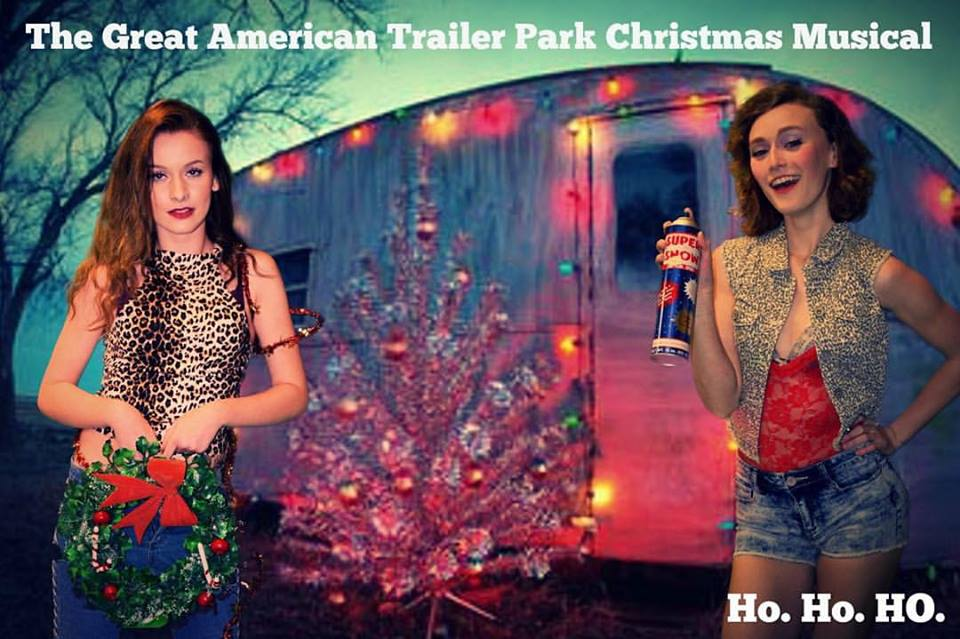 Savannah Humbertson and Aimee Conley in The Great American Trailer Park Christmas Musical.  Photo from Facebook.com.