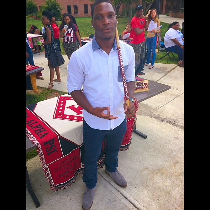 Davon Sawyer, pictured, is the President of the Lambda Mu Chapter of Kappa Alpha Psi Fraternity, Inc.