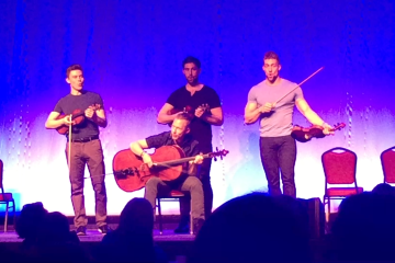 Well Strung performs in the Manicur Assembly Hall of the Lane University Center (Nick DeMichele/TBL).