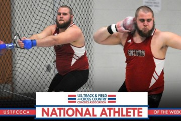 JR Lowery being named the NCAA Division III Men's National Athlete of the Week. Photo taken from FSU sports page.