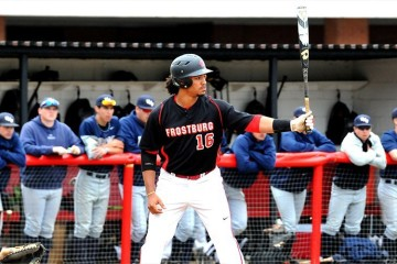 Senior Pat Sines in game against Pitt-Greensburg. Photo taken from FSU sports page.