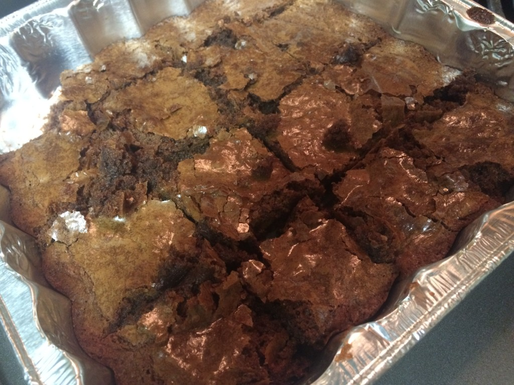 Finished product, sans icing. Not the best brownies I've ever had, but not the worst.