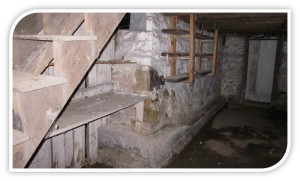 The undeveloped basement of a rental property leased by a Frostburg student.
