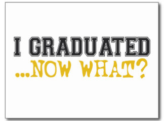 """I graduated...now what?"" taken from google images."