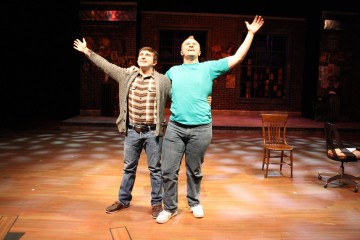 Matthan Potts and Josh Mooney as Jeff and Hunter in [title of show]