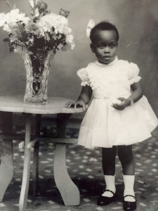 A young Joan Charlton poses for a childhood photo. Courtesy of the Charlton family.