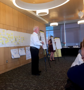Pat Sanaghan facilitates the task force during the two-day workshop. (TBL/Nick DeMichele)