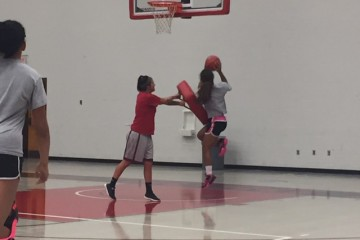 Freshman Victoria Yoder goes for a layup during practice in Bobcat Arena (TBL/Morgan Johnson).