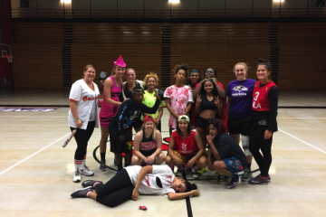 The FSU women's basketball team dresses up for a Halloween-night practice (TBL/Morgan Johnson)