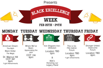 Black Excellence Week will run February 20-24 with the events as described above. (Johana Gourdin)