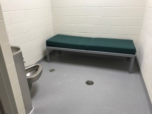 One of two holding cells at the new university police building. (TBL/Nicole Leighty)