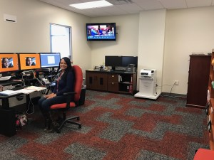 Dispatch center in the new university police building. (TBL/Nicole Leighty)