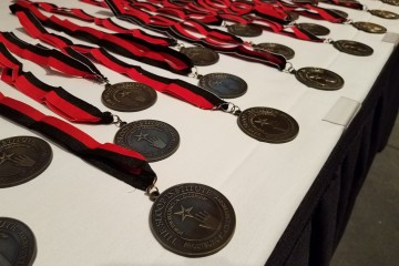 The medallions awarded to each participant of the institute upon completion. (The Frostburg State University Alumni Association)
