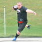 J.R. Lowery finished second in the shot put at the 2017 Penn Relays, breaking both the FSU and CAC outdoor records in the event. (Photo courtesy of FSU Athletics).