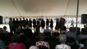 The Davis & Elkins College Appalachian Ensemble performing at the Compton Stage.