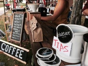 Clatter hosted a booth at this year's festival, serving coffee and tea to attendees.