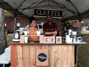 Elizabeth Carder, a barista at Clatter (left) and Josh Horevay, co-collaborator of Clatter (right).