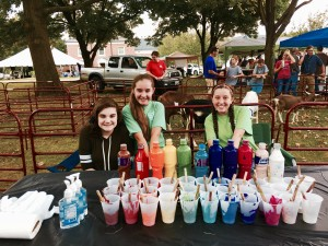 Members of the Capering Kids Goat Club. MaKenna Farris (left), Heidi Houser (middle) and Eden Houser (right)