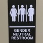 Two of the restrooms inside the Lane University Center are now gender neutral. (TBL/Matt Cumblidge)
