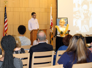 James Kirk, SGA President gave a historical look at International Peace Day