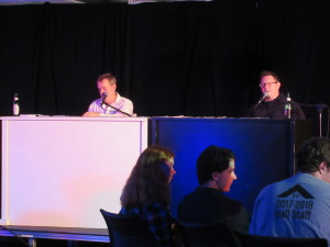 The Dueling Pianos performance at Oktoburgfest.