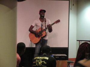 Levi Stephens during his acoustic set on the Loft Stage.