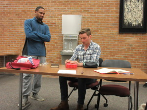 Herb Trice (Left) and Marshall Sandifer (Right) getting ready for the event to start.