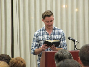 Marshall Sandifer reading from Leaves of Grass by Walt Whitman