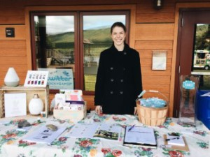 Essential Oil Enthusiast, Laura Nawiesniak showcases her Young Living booth as an Independent Distributor.