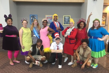 The cast of Seussical Jr. Front (from left to right) Alexandra West, Denise Adams, Jayna Raines, Ebony Gennes, Carl McManus, Rebekah Brown, Jasmine Proctor, Alexandra Hemphill; Back (from left to right) Dazinsky Muscadin, Connor McCabe, Candace Jones