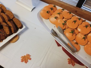 The pumpkin inspired food at the festival. Photo credit: Torie Costa