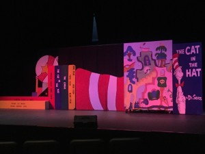 The set for Seussical Jr.