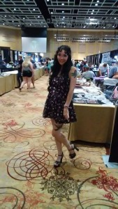 Weaver at the West Virginia Tattoo Expo in Morgantown. Photo from: Jasilynn Weaver.